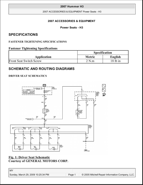 small resolution of hummer h3 power seats manualzz com hummer power seat wiring diagram