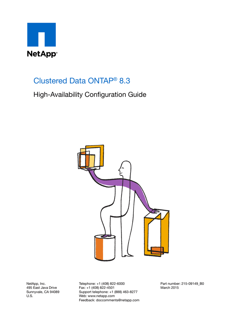 hight resolution of clustered data ontap 8 3 high availability configuration