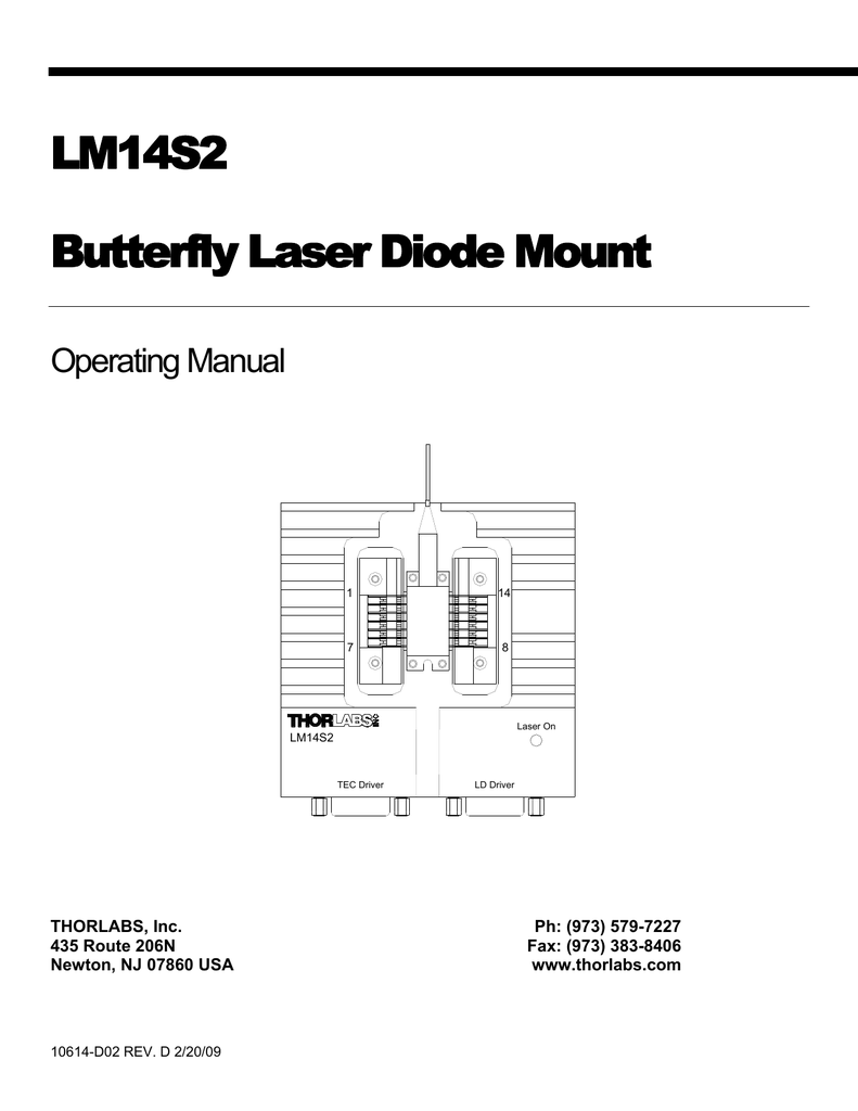 medium resolution of lm14s2 butterfly laser diode mount