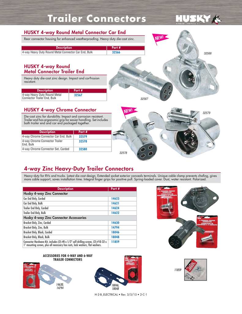 medium resolution of trailer connectors husky towing products