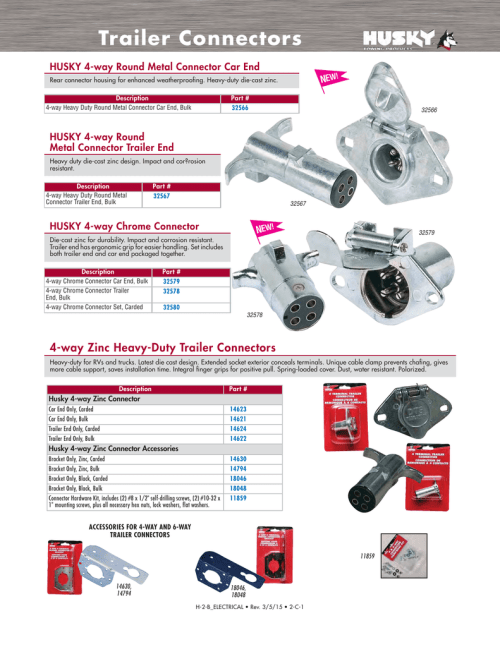 small resolution of trailer connectors husky towing products