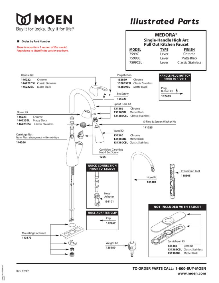 illustrated parts moen manualzz