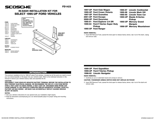 small resolution of scosche stereo dash kits installation instructions
