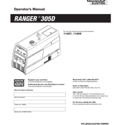 ranger 305d lincoln electric manualzz comranger 305d lincoln electric [ 791 x 1024 Pixel ]