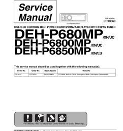pioneer deh p680mp deh p6800mp deh p6850mp [ 791 x 1024 Pixel ]