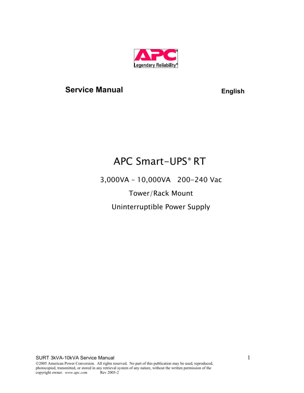 medium resolution of surt service manual rma rev2 apc