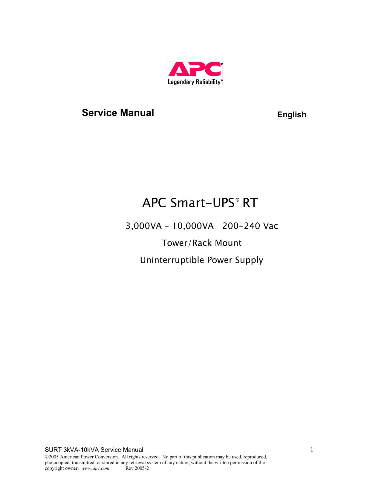 hight resolution of surt service manual rma rev2 apc