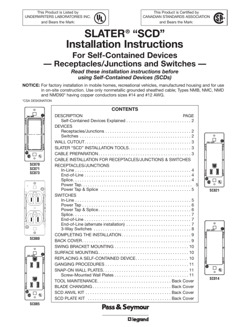small resolution of slater scd installation instructions for self