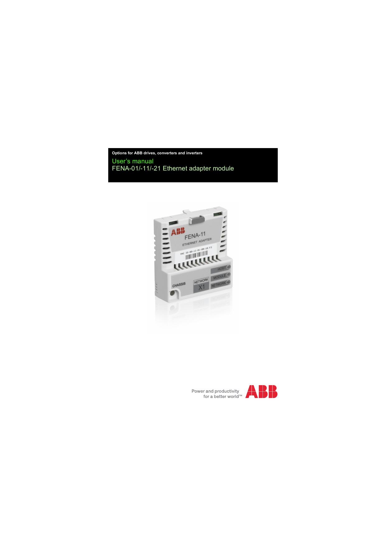 FENA-01/-11/-21 Ethernet adapter module user`s manual
