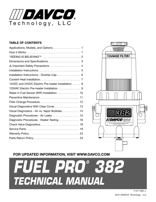 small resolution of davco fuel filter housing