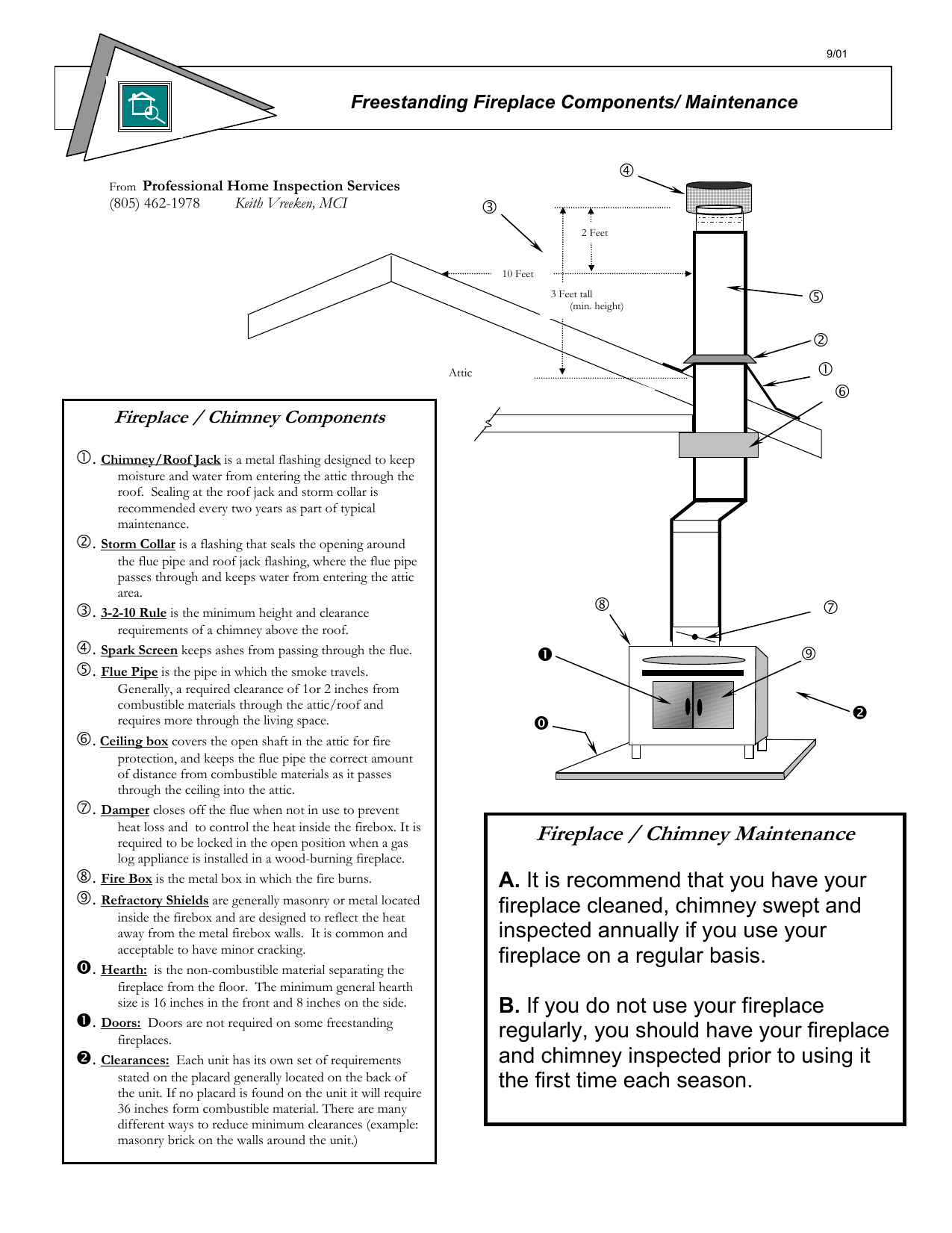 hight resolution of fireplace chimney maintenance professional home inspection