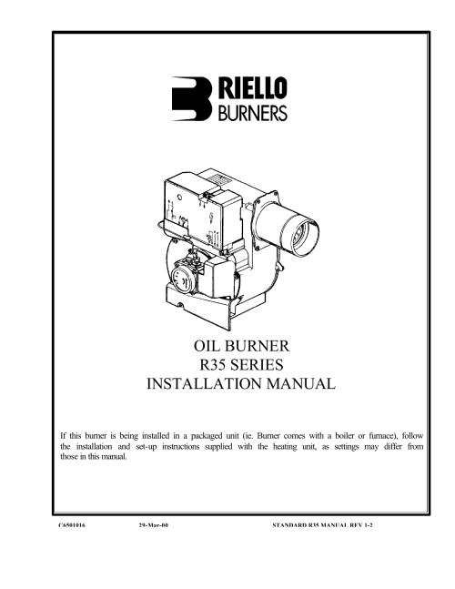 small resolution of  beckett burner wiring oil burner r35 series installation manual manualzz com on power flame burner wiring diagram