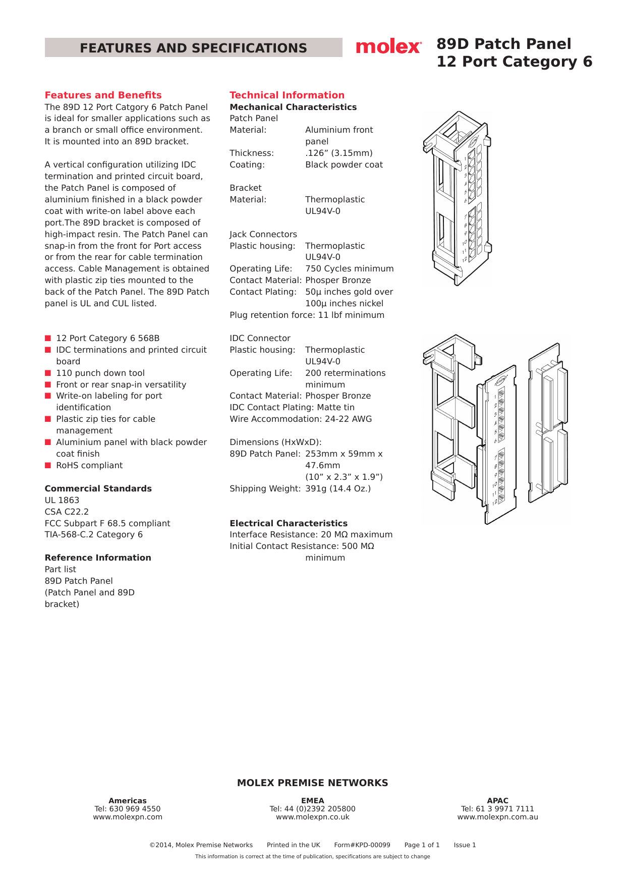hight resolution of 89d patch panel 12 port category 6