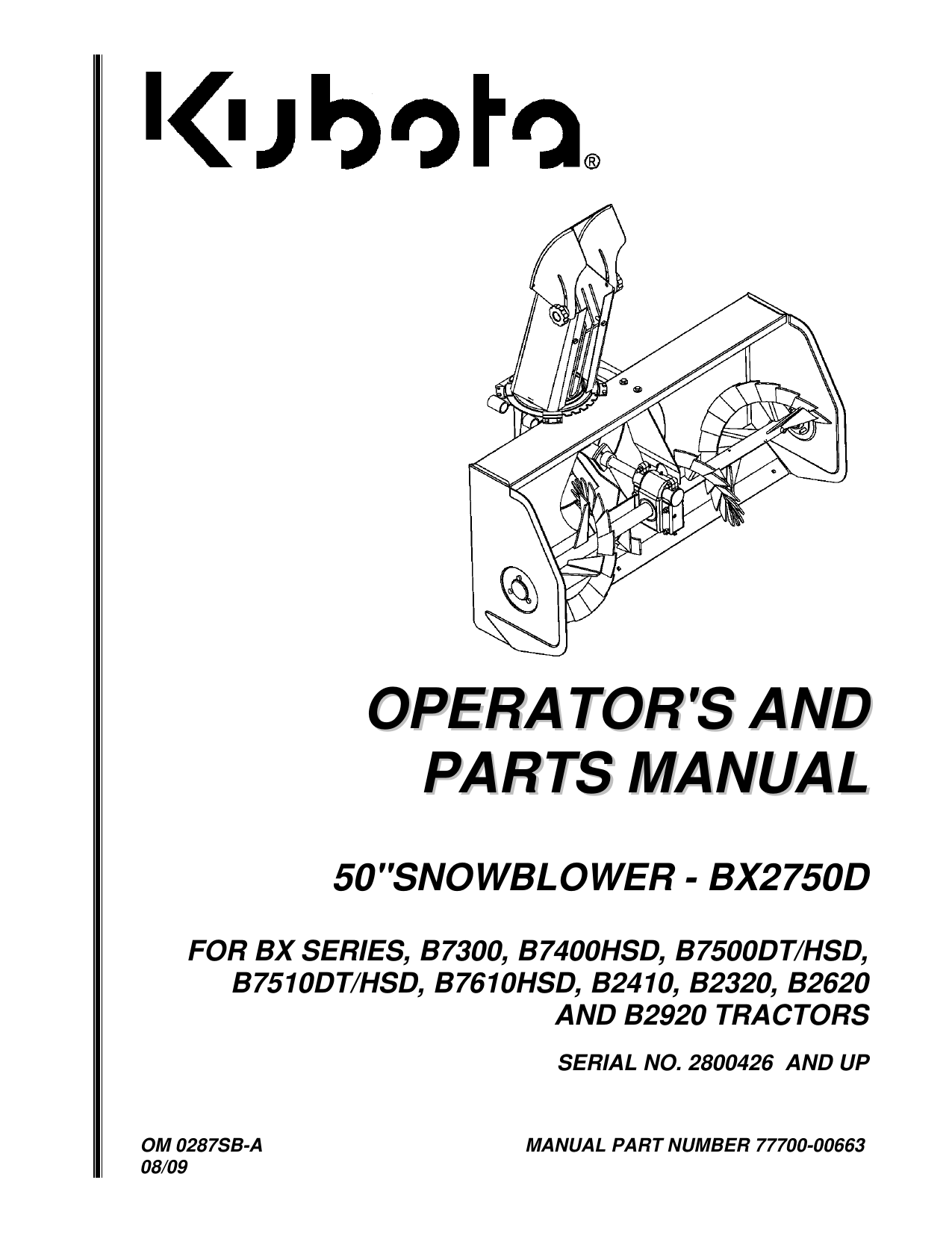 hight resolution of operator s and parts manual