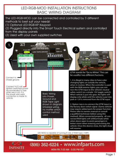 small resolution of led rgb mod installation instructions basic wiring diagram
