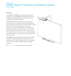 specifications smart board 880i6 interactive whiteboard system [ 1275 x 1651 Pixel ]