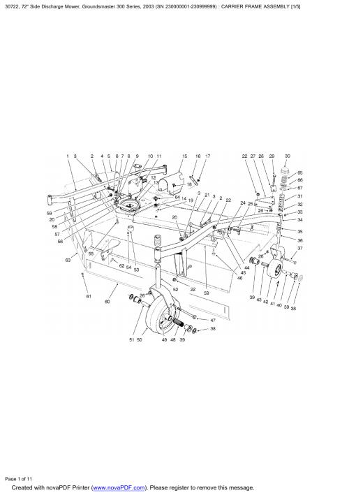 small resolution of toro 72 groundmaster discharge mower 300