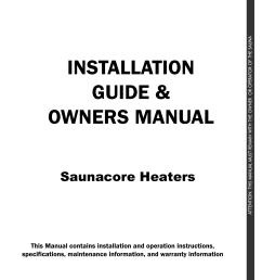 saunacore sauna heater manual [ 1275 x 1651 Pixel ]