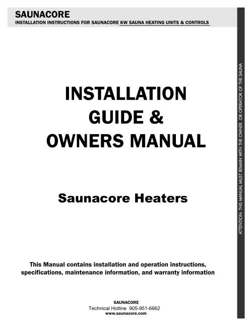 small resolution of saunacore sauna heater manual