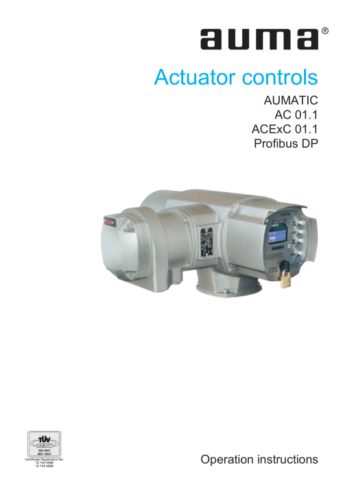 small resolution of operation instructions actuator controls aumatic ac 01 1 acexc