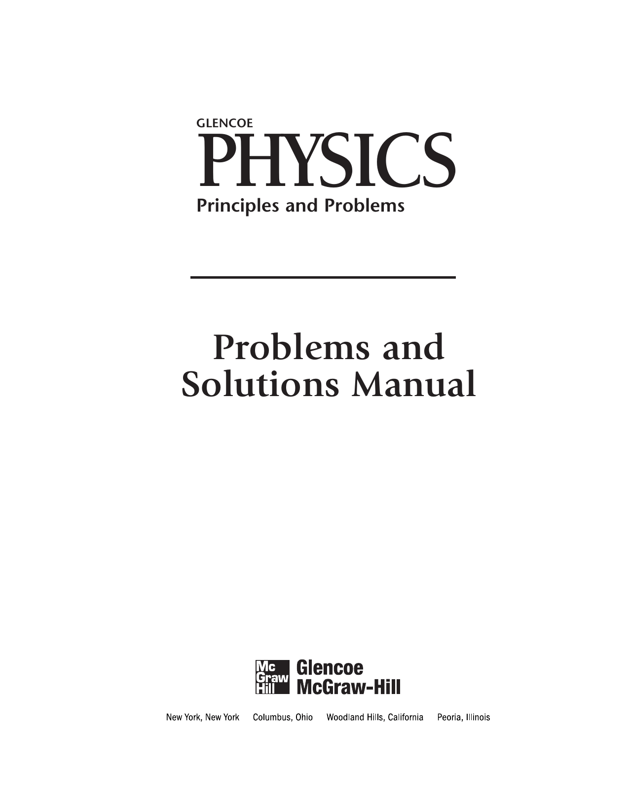 Problems And Solutions Manual