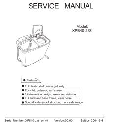 top load washer model xpb40 23s twin tub washing machine service manual model contents xpb40 23s 1  [ 1242 x 1755 Pixel ]