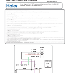 wiring diagram for haier ductless minisplit system [ 1275 x 1651 Pixel ]