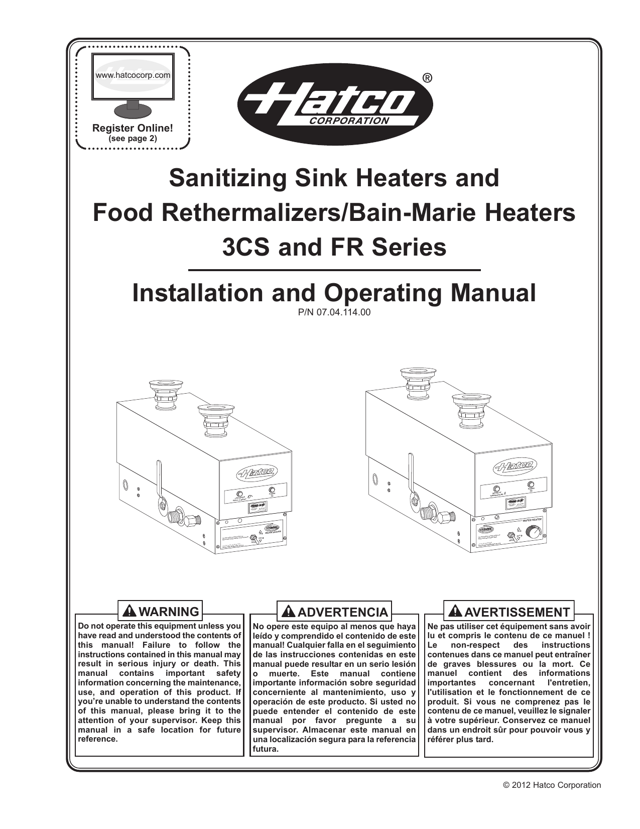 hight resolution of sanitizing sink heaters and food rethermalizers bain