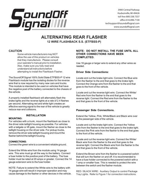 small resolution of alternating rear flasher