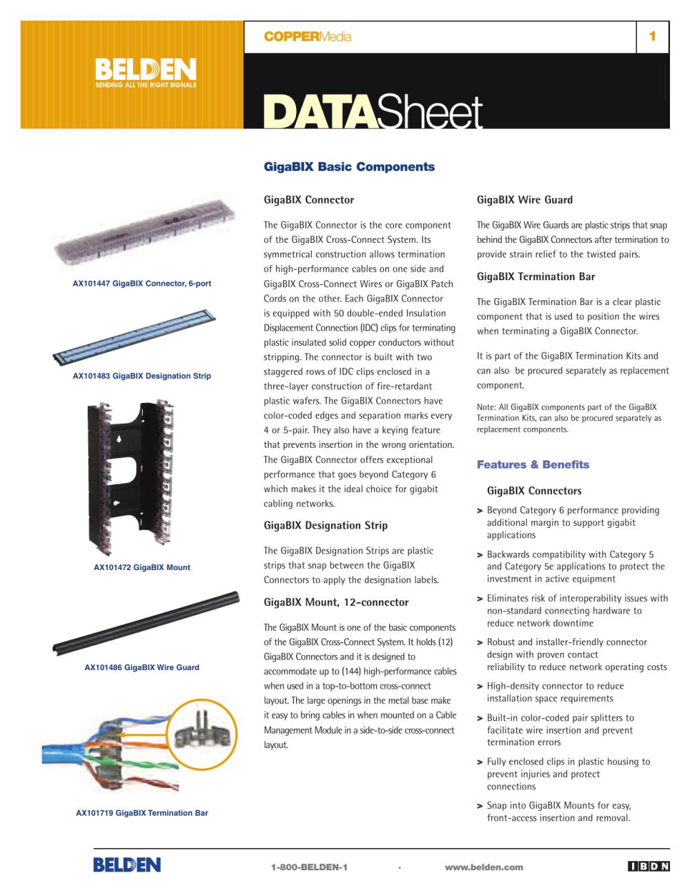 medium resolution of coppermedia gigabix basic components data sheet