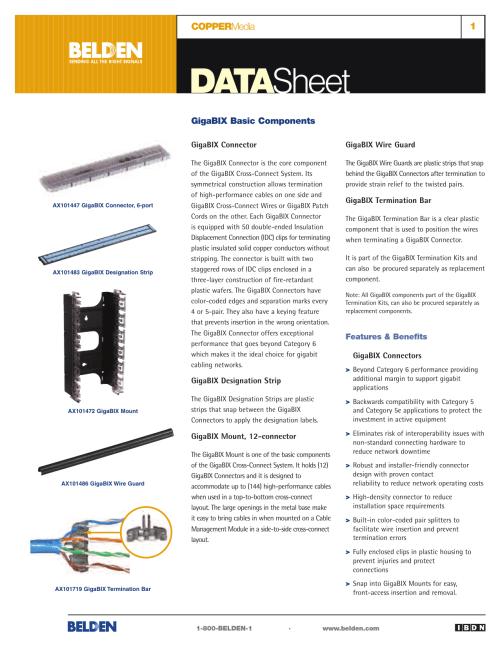 small resolution of coppermedia gigabix basic components data sheet