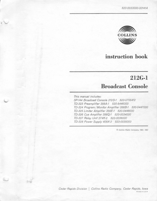 small resolution of 212 g1 manual collins collectors association