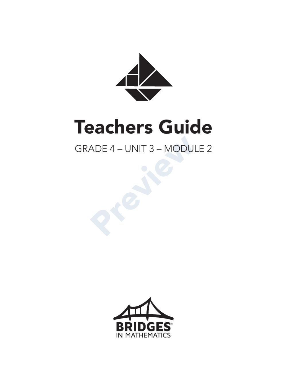 medium resolution of Bridges in Mathematics Grade 4 Teachers Guide   Manualzz