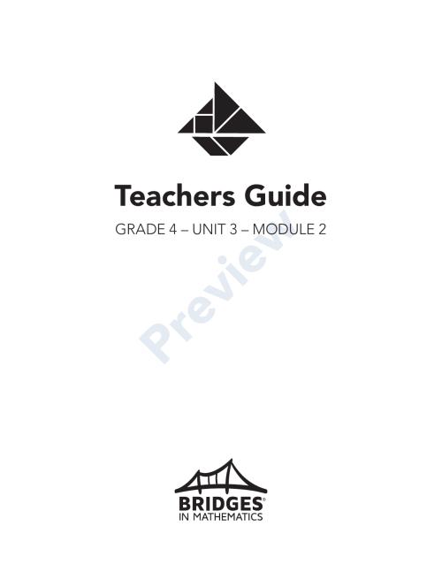 small resolution of Bridges in Mathematics Grade 4 Teachers Guide   Manualzz