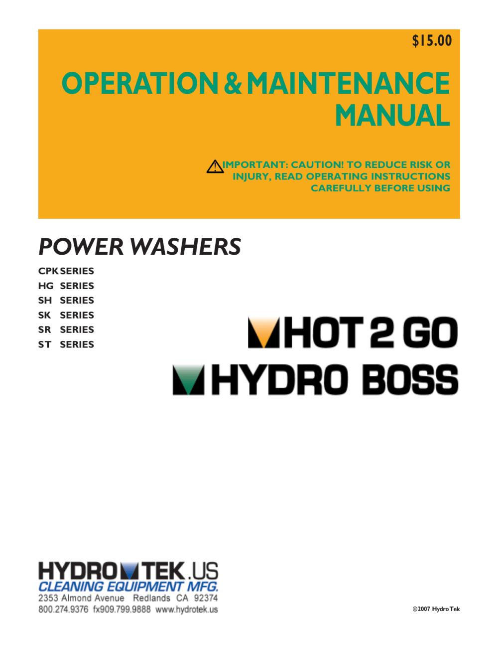 medium resolution of manual hot 2 go hydro boss vpro p65