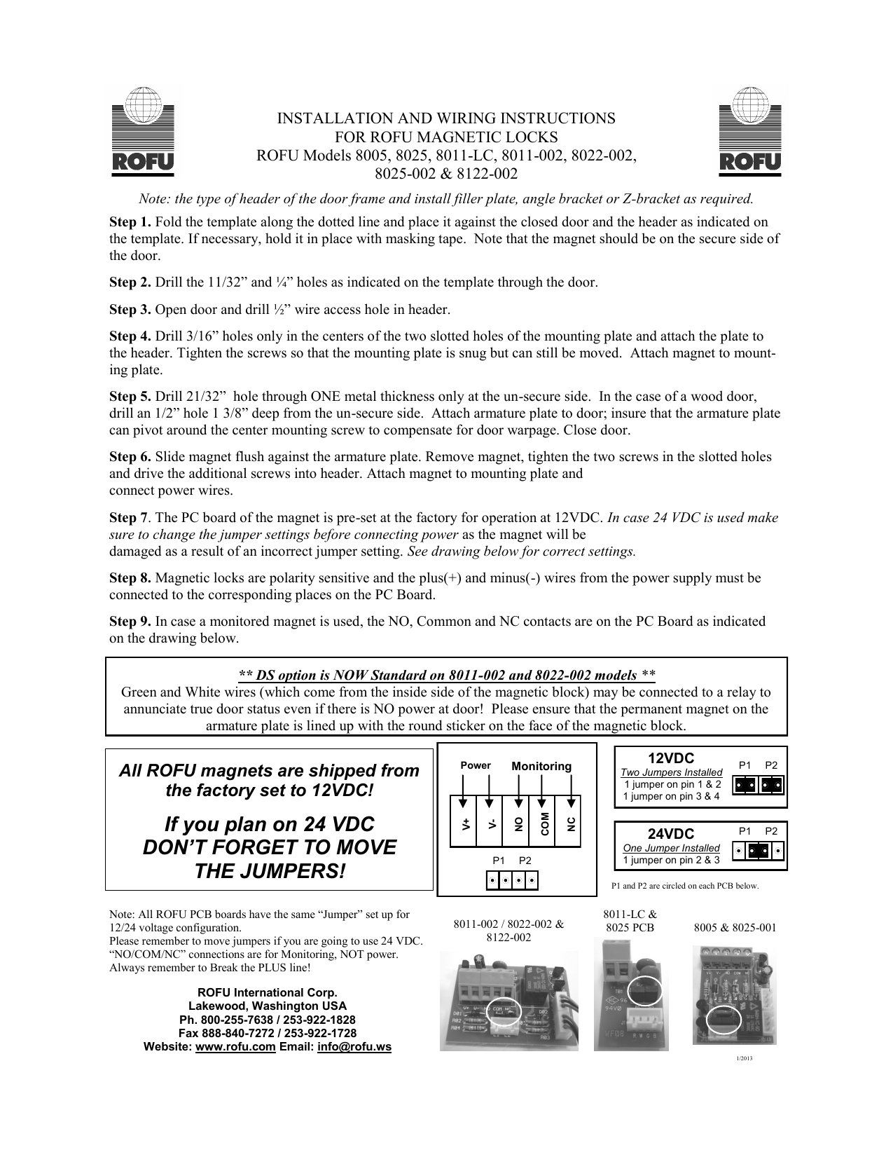 hight resolution of rofu 8011 wiring diagram manualzz com ds series magnetic lock wiring instructions