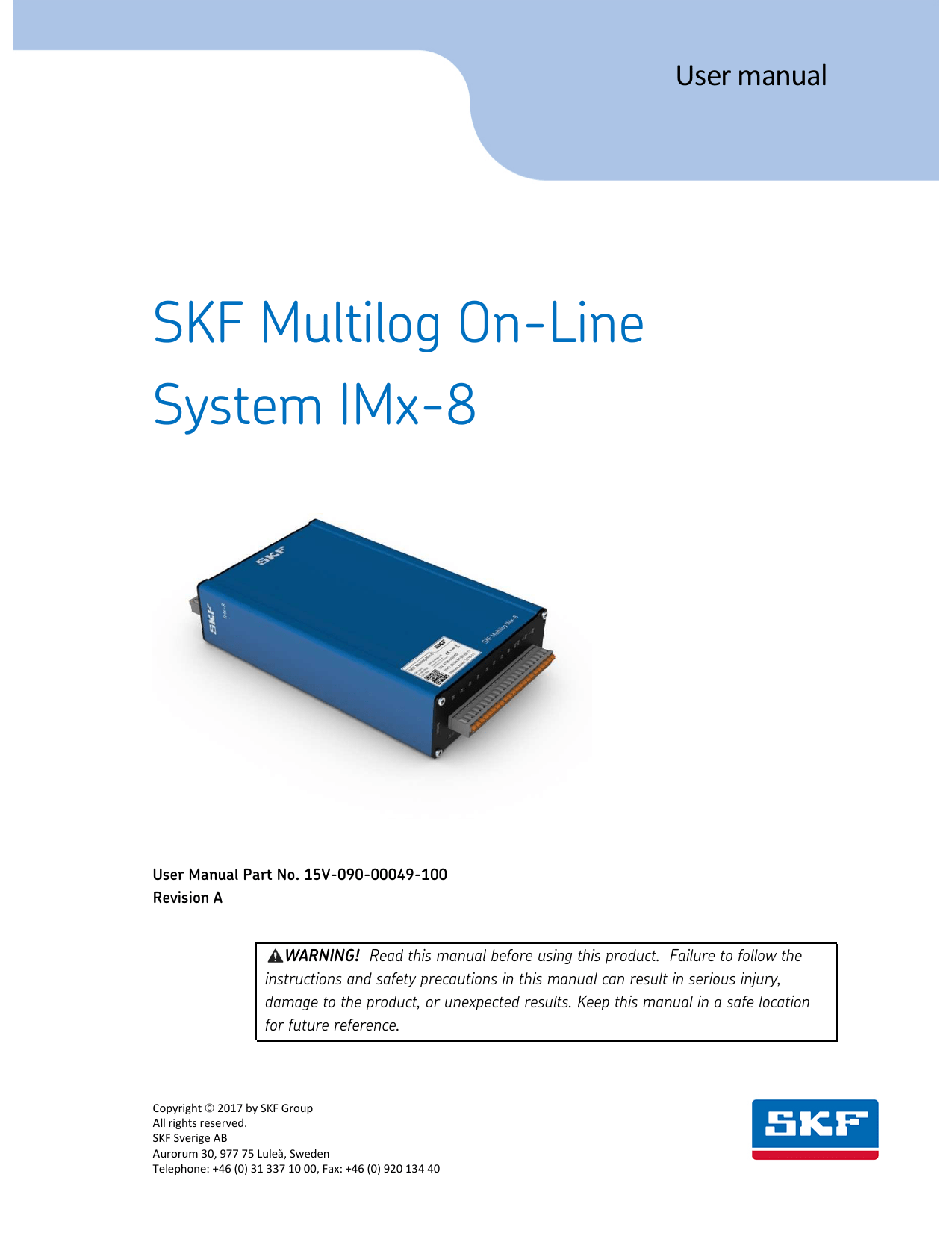 hight resolution of skf multilog on line system imx 8