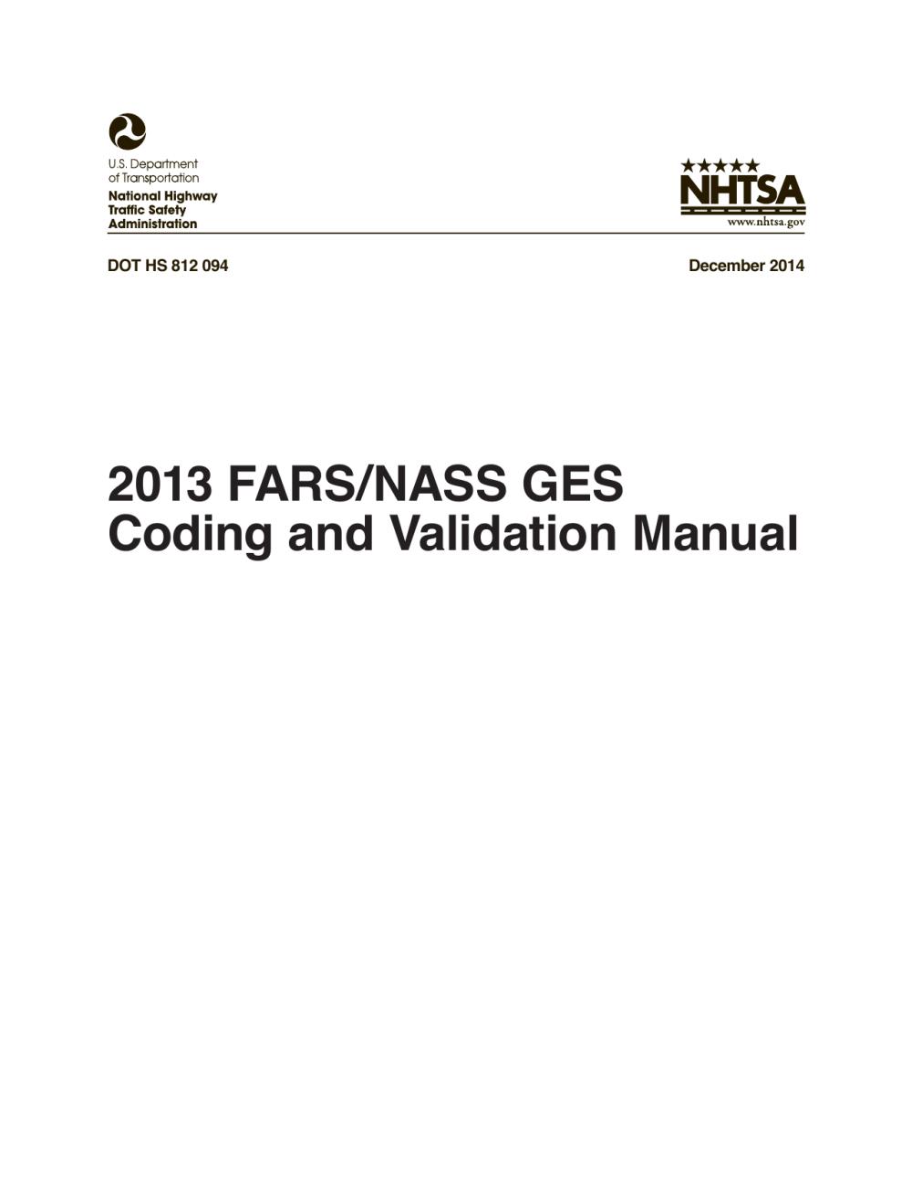 medium resolution of 2013 fars nass ges coding and validation manual