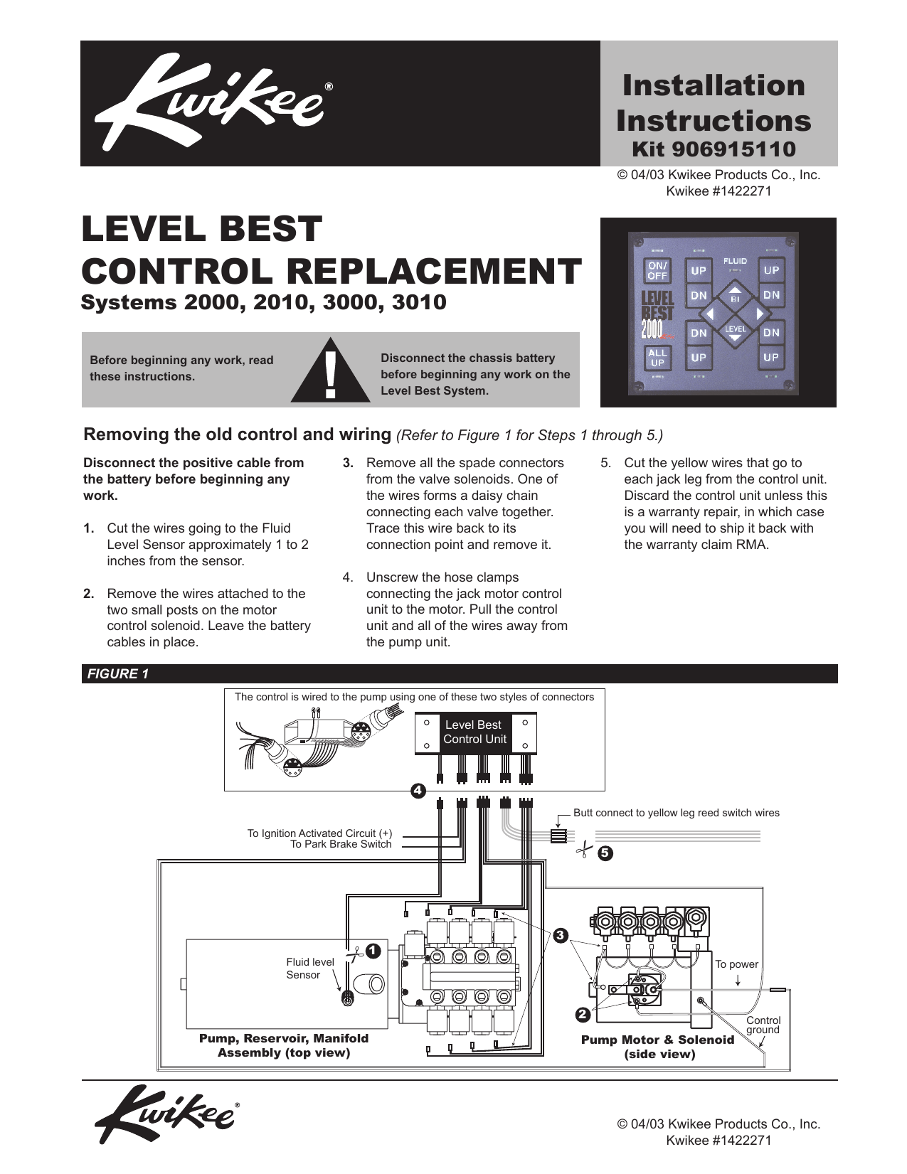 hight resolution of level best control replacement