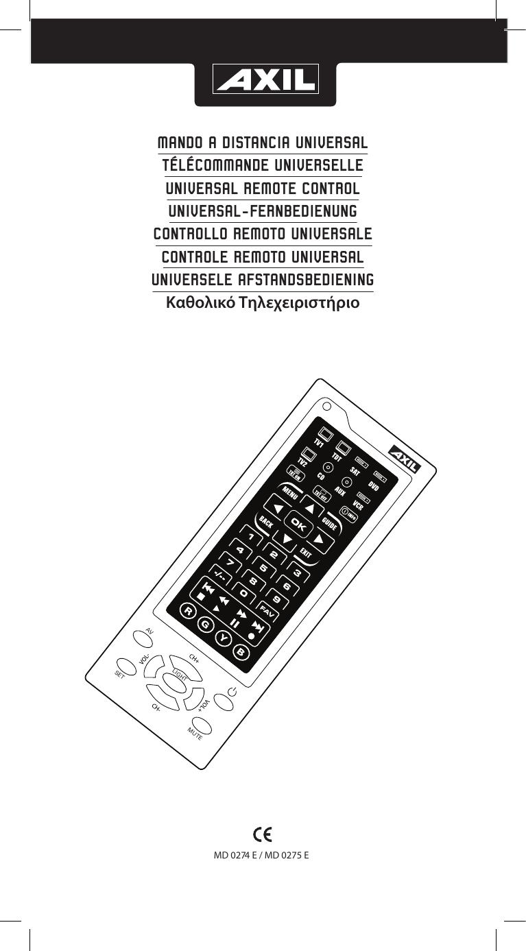 mando a distancia universal télécommande universelle