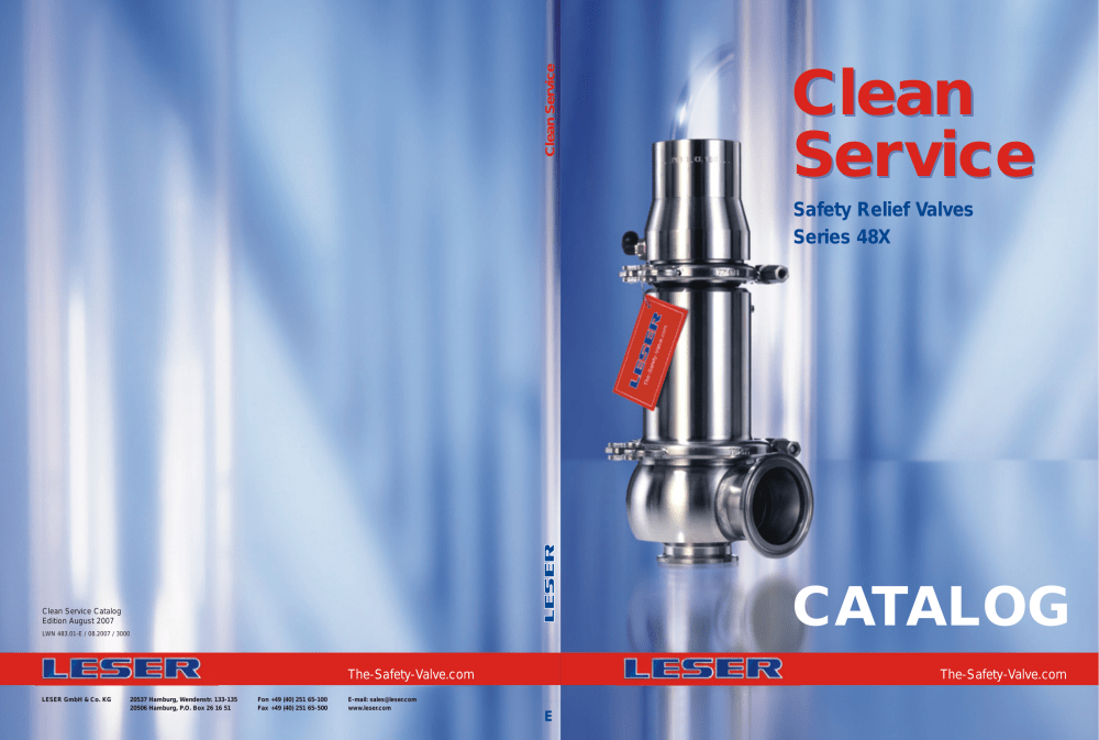 medium resolution of clean service clean service safety relief valves series 48x catalog clean service catalog edition august 2007 lwn 483 01 e 08 2007 3000
