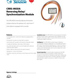 crrs moda reversing relay synchronization module [ 1275 x 1651 Pixel ]