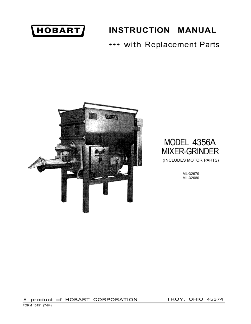 medium resolution of model 4356a mixer grinder