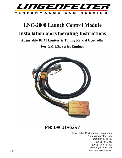 small resolution of lnc 2000 launch control module installation and operating