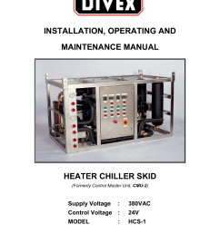 installation operating and maintenance manual heater chiller skid [ 1240 x 1755 Pixel ]