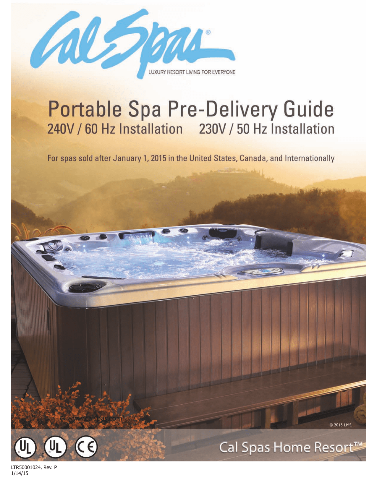 hight resolution of cal spas pre delivery guide