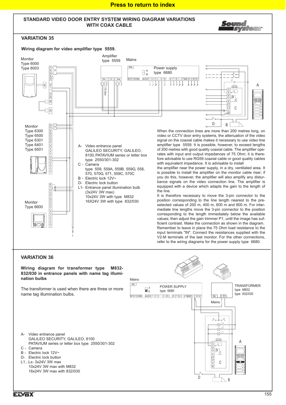 medium resolution of variation 36 standard video door entry system wiring diagram