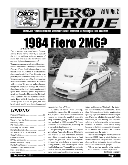 small resolution of 01 september pride indd new england fiero association