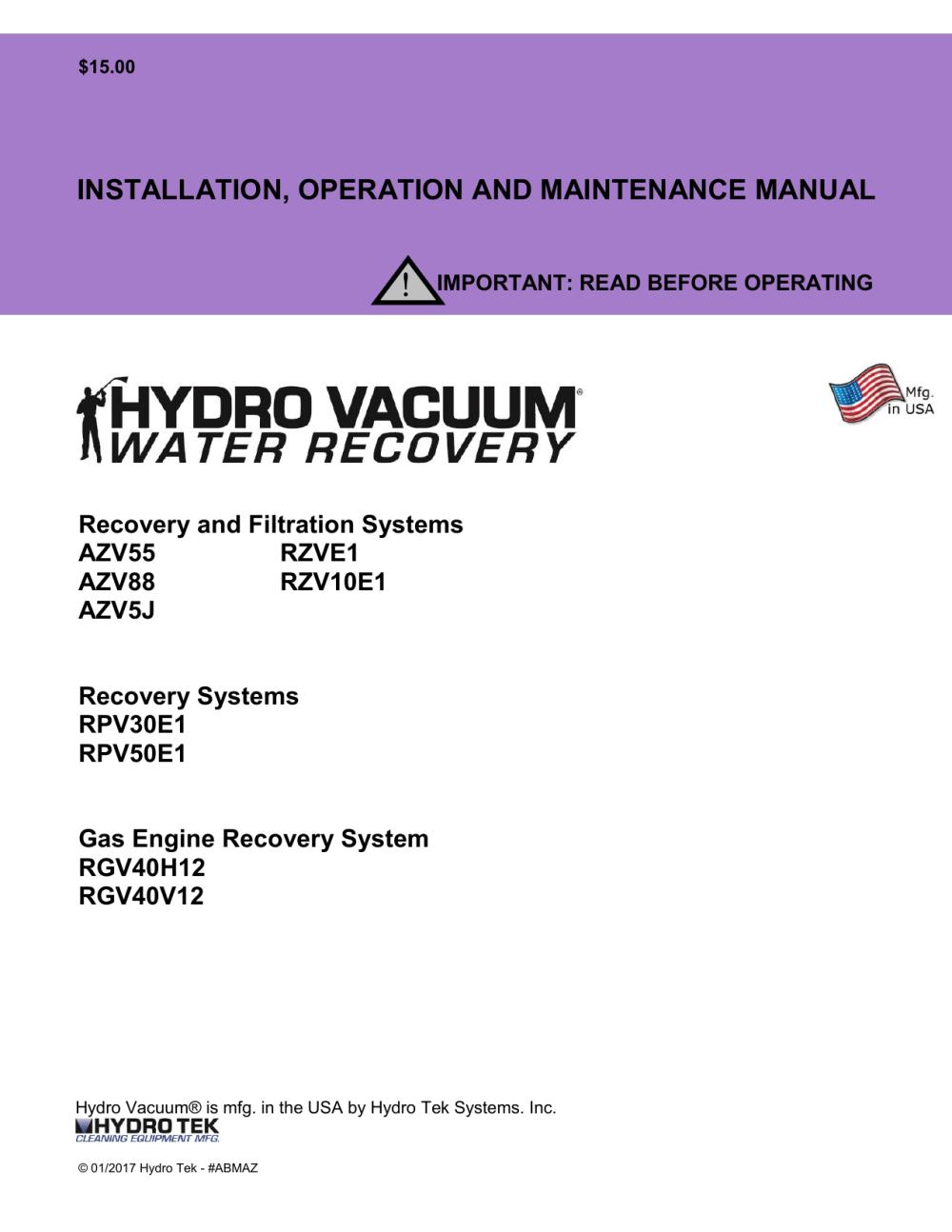 medium resolution of 2017 hydro vac operations manual
