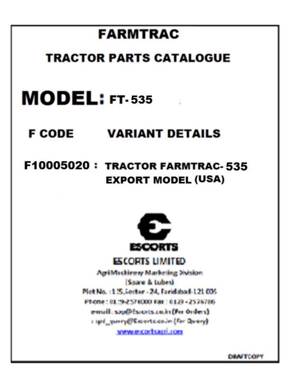 medium resolution of farmtrac 435 535 cross border tradex